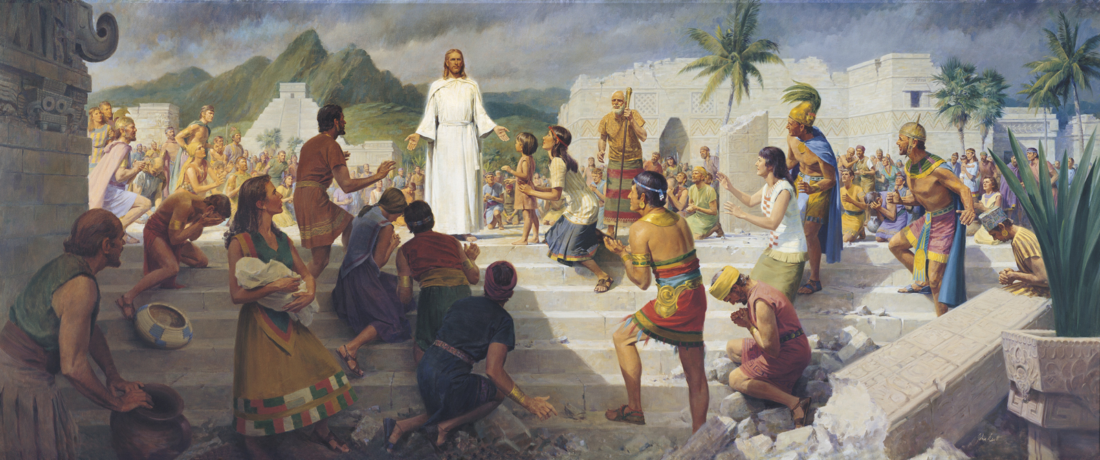 christ teaching nephites 39665 print